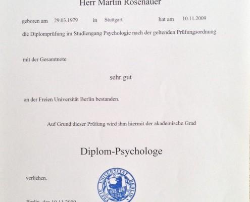 Diplom-Psychologe Freie Universität Berlin